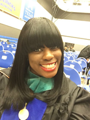Danielle Conley at UTA graduation