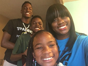 Danielle Conley with her three kids