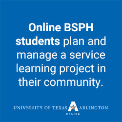 UTA BSPH students do a service learning project as part of an internship