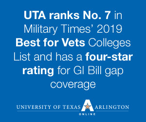 UTA is one of the best colleges for military students and veterans