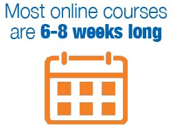 Online courses are typically 6-8 weeks long