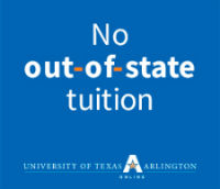 No out of state tuition fees at UTA online