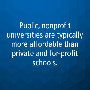 nonprofit universities are more affordable